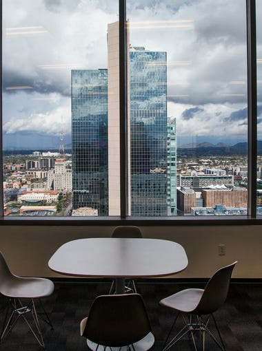 This is a view looking north from the student lounge at Arizona Summit Law School in downtown Phoenix, Tuesday, February 28, 2017.