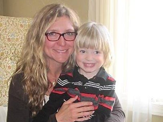 Patresa Hartman and her son, Fisher. Hartman is working on her second record, which is set to be released this year.
