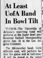 A clipping from the Saturday, January 7, 1967, issue