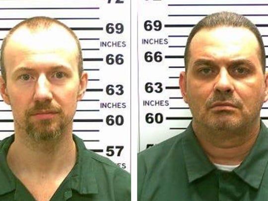 Convicted murderers David Sweat (L) and Richard Matt