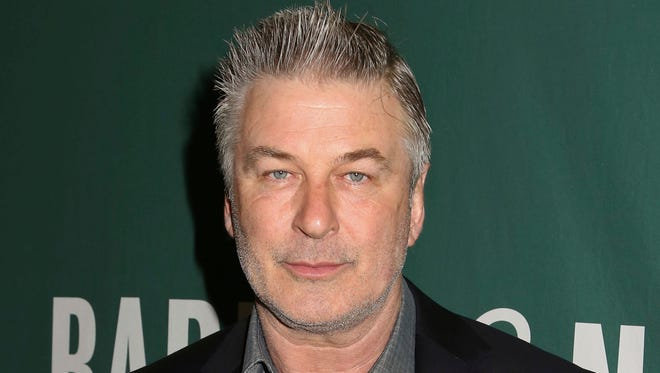 "In this April 4, 2017, file photo, actor Alec Baldwin appears at Barnes & Noble Union Square to sign copies of his new book, ""Nevertheless: A Memoir"" in New York."