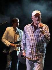 Scott Totten and Mike Love of The Beach Boys perform at Tuacahn Amphitheatre in 2013.