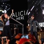 "Alicia Keys and Jay-Z perform earlier this month in New York City. Jay-Z, who wrote the couple's song, ""Empire State of Mind,"" has been nominated for the Songwriter Hall of Fame. He is the first rapper to be nominated."