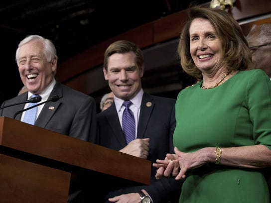 Nancy Pelosi, Steny Hoyer, Eric Swalwell
