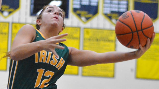Kate Bauhof of York Catholic led the Y-A League in scoring as a junior, putting up 19.5 points per game, while earning first team all-state recognition in Class 3-A.