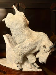 Bronze mountain goat by Great Falls sculptor Don Ream.