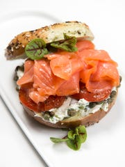 The nova: hand sliced smoked salmon with scallion dill
