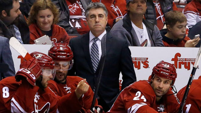 Arizona Coyotes head coach Dave Tippett.