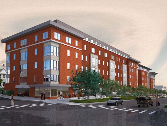 Proposed Eagles Landing student apartments, viewed