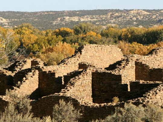 Ancestral Puebloan people left villages in the Four