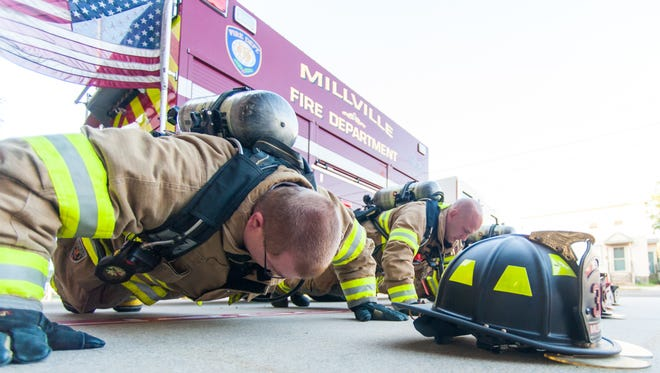 A Facebook post about a push-up challenge inspired Millville firefighters to do their part for PTSD awareness.