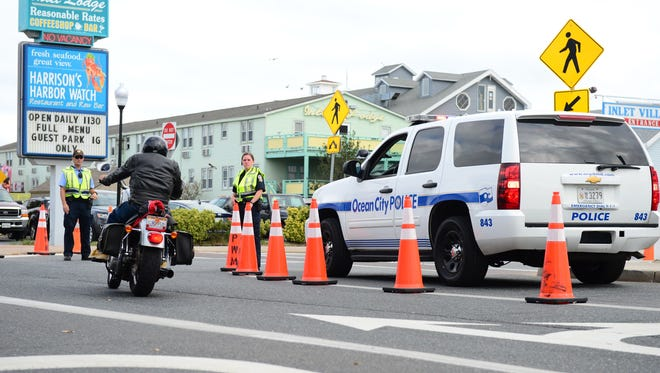 Ocean City Police Department is out keeping the road and riders safe during OC BikeFest on Thursday, Sept. 15.