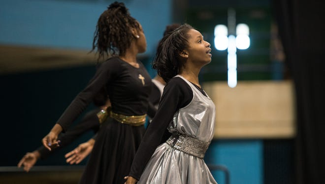 A group of girls performs a dance routine during the 30th annual Youth Activity Celebration honoring Martin Luther King Jr. at the Wicomico Youth & Civic Center in 2016.
