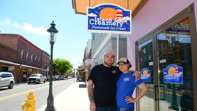 Co-owners Drew Conklin and Jennifer Sorrell have opened a new Island Creamery location in Berlin, Md. Drew is the eldest son of Kelly Conklin, the current owner of the original Island Creamery located on Chincoteague Island, Va.