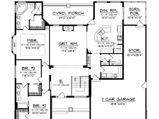 Abundant storage includes walk-in closets in the bedrooms,