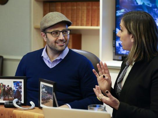 Dan Tordjman, left, and Penelope Miller of America's