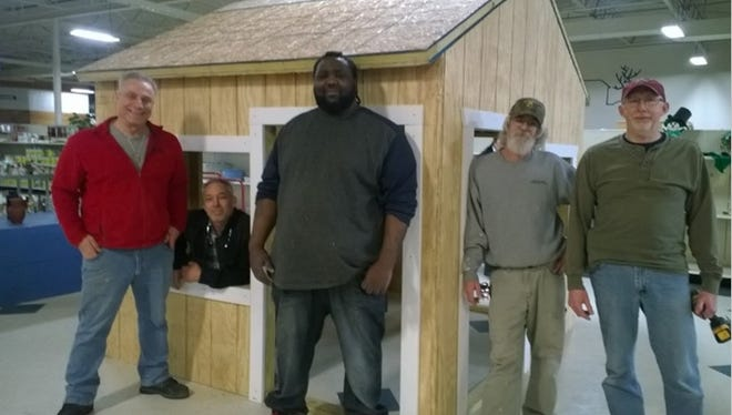 "Volunteers with Blue Water Habitat for Humanity have been creating accessible playhouses for a new ""sprout city"" at Palmer Park."
