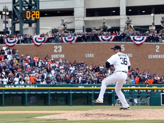Joe Nathan pitched for the Detroit Tigers in 2014 and one game in 2015 before missing the rest of the season.