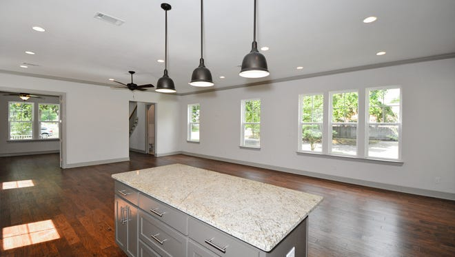 The kitchens allow easy access to the living areas.