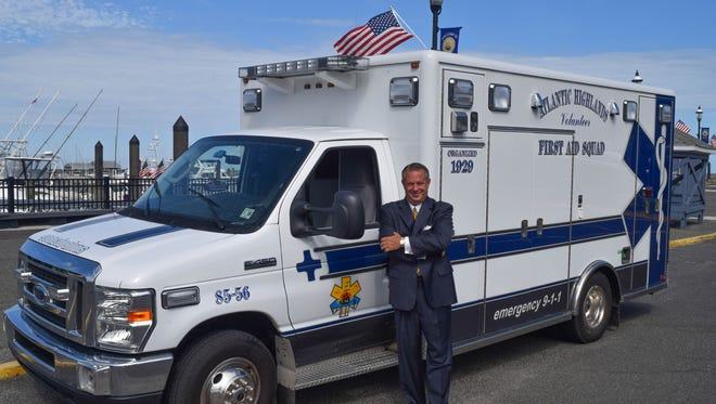 Lance Hubeny, an EMT and firefighter in Atlantic Highlands, received the top U.S. volunteer award from his employer, Wells Fargo. The company gave the Atlantic Highlands EMS squad a $25,000 grant as part of the award.