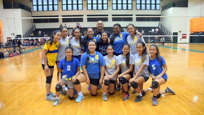 Pokai and St. John's made it into the finals with Pokai claiming the title. Pictured here is the championship Pokai team.