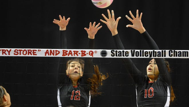Centennial High School lost in four sets to Los Lunas in the Class 5A state championship volleyball match at the Santa Ana Star Center in Rio Rancho on Saturday.