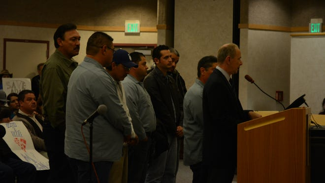 Employees in Desert Sands Unified School District spoke before the board Tuesday to say that they have been retaliated against for speaking Spanish during work.