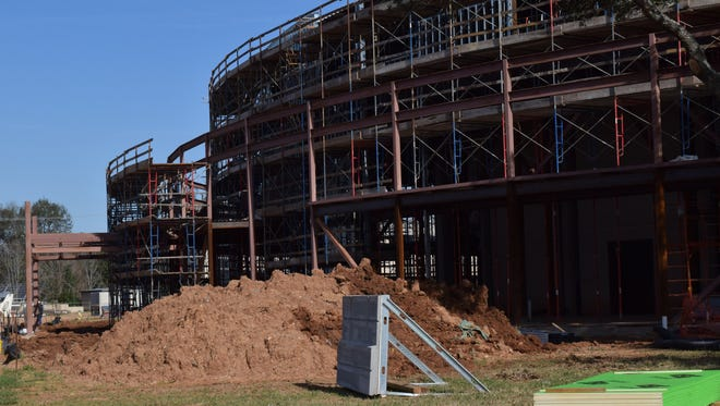 Work is continuing on the Rapides Parish Coliseum renovation project, which is scheduled to be completed in December.