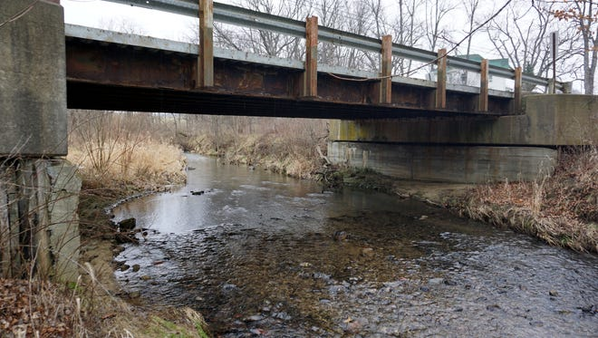 This bridge on Bromfield Road is going to be replaced by a 1950s vintage  truss bridge brought in from Stark County.