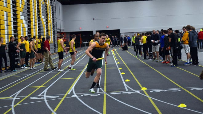 Stephen Sheperd helped the St. Norbert College men's track and field team win the Midwest Conference title last season. Sheperd, who underwent heart surgery in 2010, collapsed and stopped breathing during the team's first practice earlier this month.