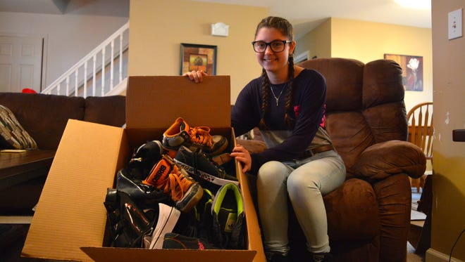 Sussex Central High School junior Samantha McDonough has organized shoe collection drives at local schools. The shoes are sent to people in 50 countries who are in need.