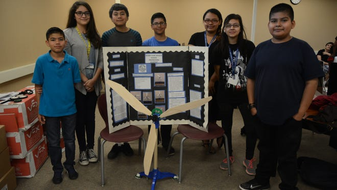 Students from Bobby Duke Middle School won the KidWind wind turbine competition on Saturday in Desert Hot Springs.