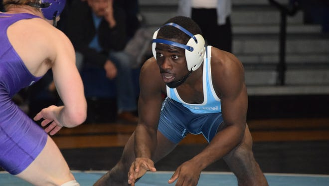Upper Iowa's Maleek Williams had a stroke in November, but he quickly overcame it to return to the mat. This weekend he will compete in the 125-pound weight class.