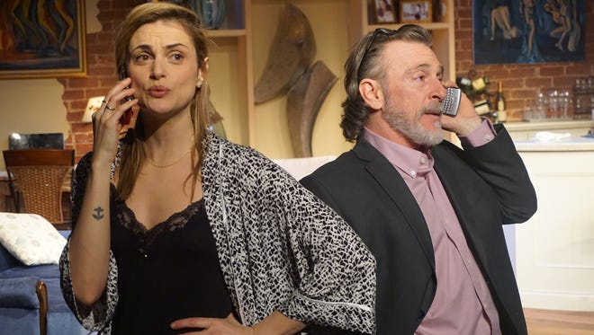 """Daniela Mastropietro and Ed Kershen in a scene from the world premiere of Deborah Rennard's """"For Worse"""""""