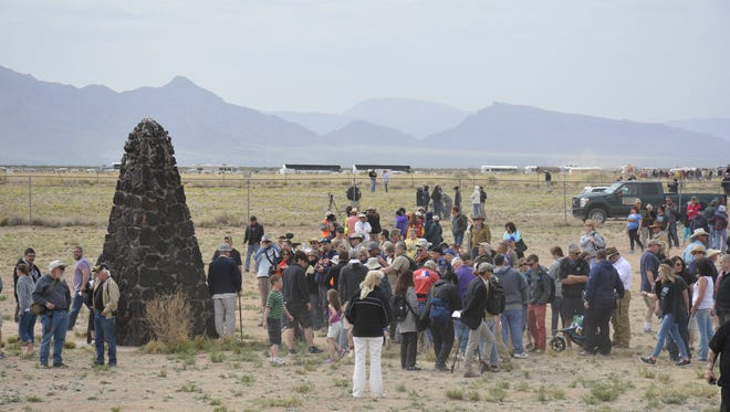 At the Trinity Site, visitors can take a quarter-mile walk to ground zero where a small obelisk marks the exact spot where the bomb was exploded.