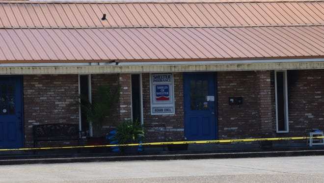 The cause of a fire that gutted an office building Monday on Main Street in Pineville is under investigation. Shelter Insurance Agent Richard Jewell has offered a $5,000 cash reward and a 55-inch flat-screen television for information that leads to the arrest and conviction of the person or people responsible for the robbery and subsequent fire.