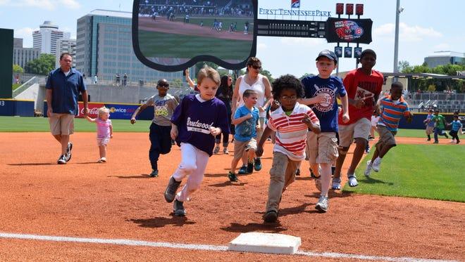 Kids Run the Bases is a popular Nashville Sounds promotion.
