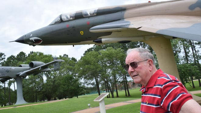 Tom Gallagher, a former Air Force pilot, used to fly the F-105, like the one at Heritage Park at England Airpark.