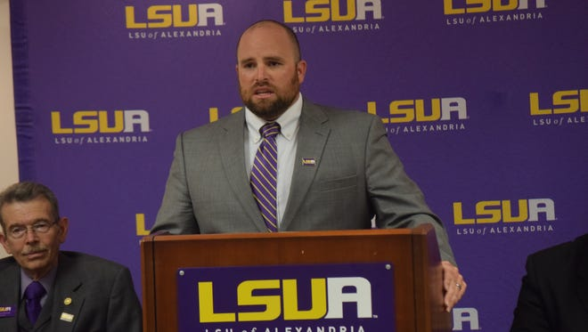 LSU at Alexandria athletic director Brent Porche announces that LSUA and the City of Alexandria will be hosting the Red River Athletic Conference  basketball tournament in March 2017 at the newly renovated Rapides Parish Coliseum.