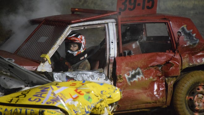 John DuBois of Pittsgrove won the Demolition Derby at the Cumberland County Fair on Saturday, July 9. Photo/Jodi Streahle