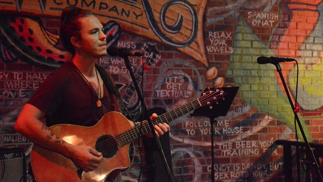 Musician Devon Meyers hosts the open mic show, as well as playing his own set. South Street City Oven on Pine Ridge Rd. hosts an open mic night every Thursday. Lance Shearer/Special to the Daily News