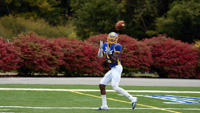 Mars Hill's Keshaun Taylor led the South Atlantic Conference in receiving (107.5 yards per game) last season.