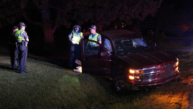 A female pickup truck driver was flown by medical helicopter following a crash on Ohio 58 Friday.