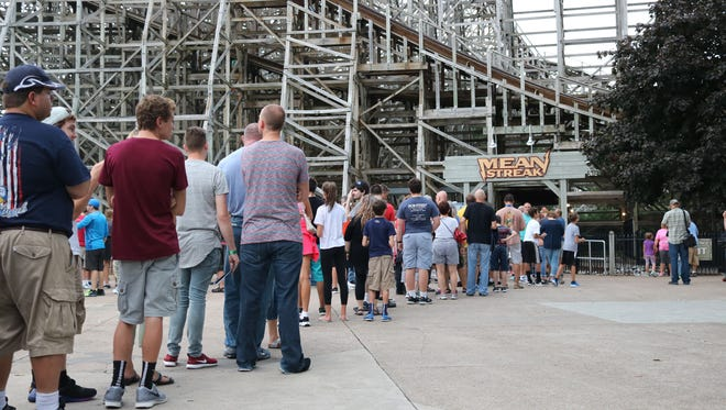 Fans waited in long lines at Cedar Point on Friday for a chance to be one of Mean Streak's final riders.