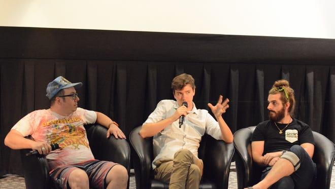 Filmmakers Stephen Pell, Jonathan Tasman, Lear Bunda and Virginia Anzengruber speak at the Student Life Cinema on Thursday, October 6, 2016.