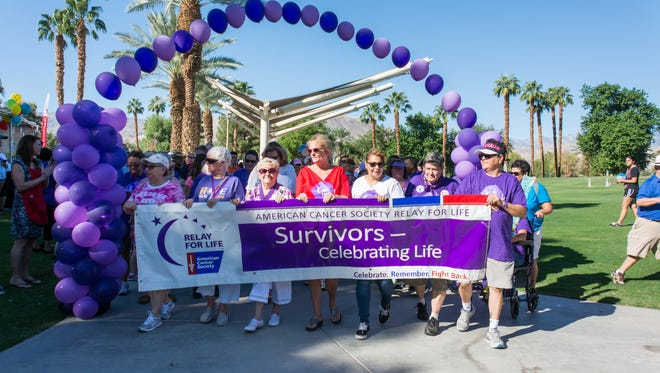 Cancer survivors eagerly await the start of the 18th Annual Relay for Life.