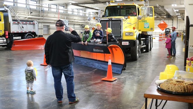 The Ohio Turnpike offered opportunity for families to see their heavy-duty equipment up close at an open house in Elmore on Saturday.