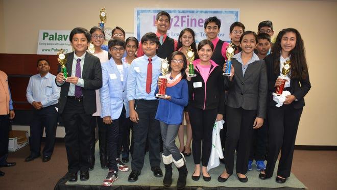 Winners of the Key2Finesse speech contest fundraiser.