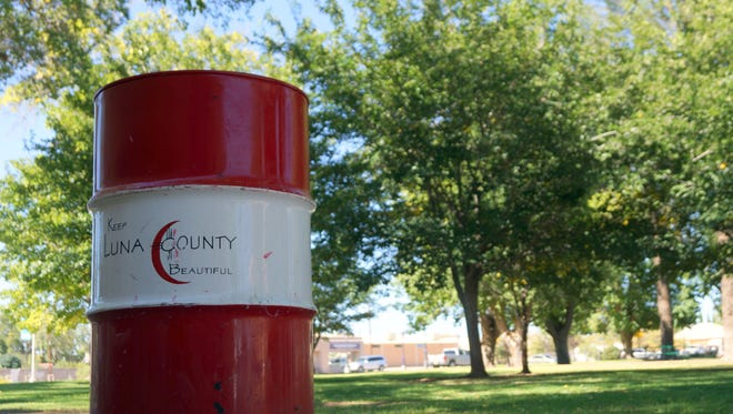 Keep Luna County Beautiful barrels will be used for this year's Toss No Mas clean up campaign. Clean up will begin at 8 a.m. at Courthouse Park.