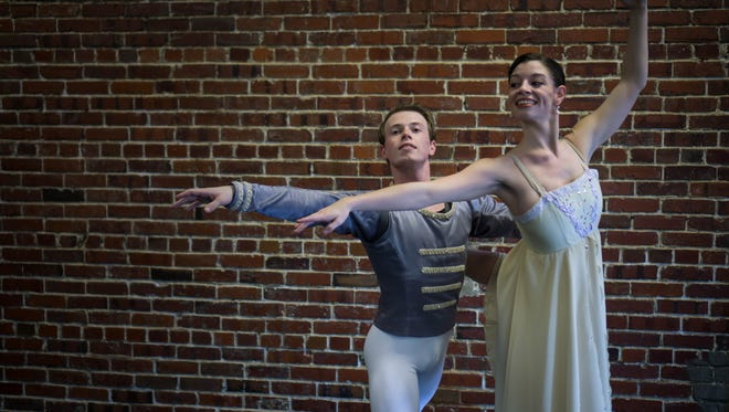Brodrick Todd, left, and Debi Janea star in The Nutcracker. Catch it at the Saenger Theatre at 7 p.m. tonight and Saturday or 1:30 p.m. Sunday.